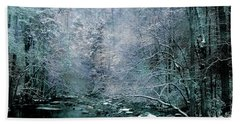 Smoky Mountain Winter Beach Sheet by Mike Eingle