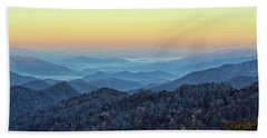 Smoky Mountains Beach Towel by Nancy Landry