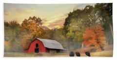 Smoky Mountains Sunrise Beach Sheet by Lori Deiter