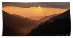 Smoky Mountains Sunset - D010157 Beach Sheet