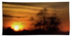 Smoky Sunset Beach Towel