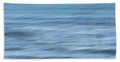Smooth Blue Abstract Beach Sheet by Terry DeLuco