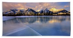 Beach Towel featuring the photograph Smooth Ice by Dan Jurak