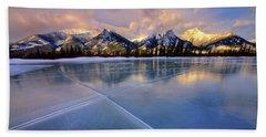 Smooth Ice Beach Towel by Dan Jurak