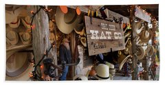 Beach Sheet featuring the photograph Snail Creek Hat Company by Tim Stanley