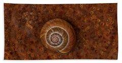 Snail On A Tin Can Beach Sheet
