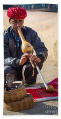 Snake Charmer Beach Towel by Inge Johnsson