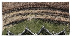 Snake-rail Fence And Cornfield Beach Towel
