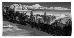 Snake River Overlook-winter Scene 79 Beach Sheet