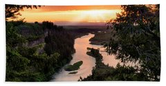 Snake River Sunset Beach Towel