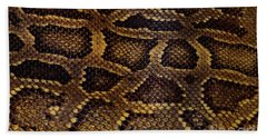Beach Towel featuring the photograph Snake Skin by Kathy Baccari
