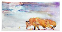 Sniffing Out Some Magic Beach Sheet by Beverley Harper Tinsley