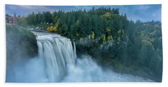 Snoqualmie Falls Rush Hour Beach Towel