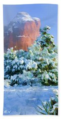 Snow 07-093 Beach Towel by Scott McAllister