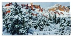 Snow 09-007 Beach Towel by Scott McAllister