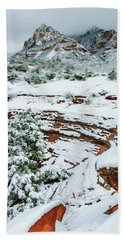 Snow 09-037 Beach Towel by Scott McAllister