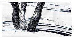 Snow And Shadows Beach Towel by Karen Slagle