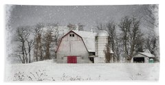 Snow Barn Beach Towel
