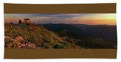 Snow Camp Lookout Beach Towel by Leland D Howard