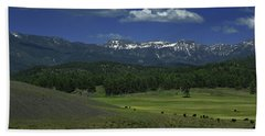 Snow Capped Mountains 3 Beach Towel