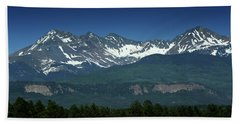 Snow Capped Mountains Beach Towel