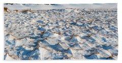 Snow Covered Grass Beach Sheet