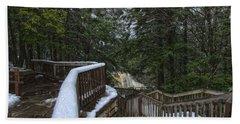 Snow Covered Path Beach Sheet