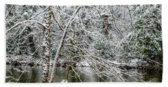 Beach Towel featuring the photograph Snow Cranberry River by Thomas R Fletcher