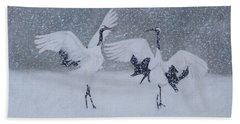 Snow Dancers Beach Towel