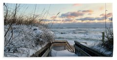 Snow Day At The Beach Beach Sheet