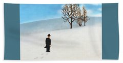 Snow Day Beach Towel by Thomas Blood