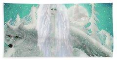 Snow Fairy Beach Towel