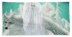 Snow Fairy Beach Towel