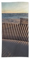 Beach Towel featuring the photograph Snow Fences 2.0 by Michelle Calkins
