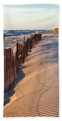 Beach Towel featuring the photograph Snow Fences 4.0 by Michelle Calkins