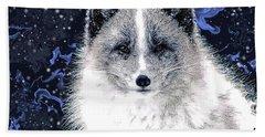 Snow Fox Beach Towel