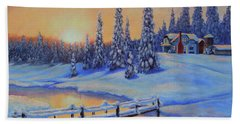 Snow Home Beach Towel