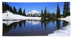 Snow In July Beach Towel