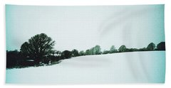 Snow In Sussex Beach Towel