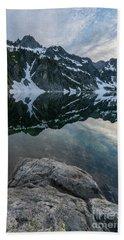 Snow Lake Chair Peak Dusk Reflection Beach Sheet