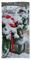 Snow Latern Beach Towel