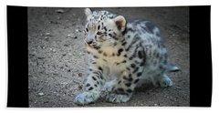 Snow Leopard Cub Beach Towel
