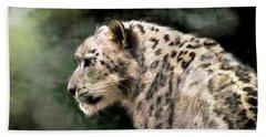 Snow Leopard Beach Sheet by Kaylee Mason