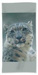 Beach Towel featuring the photograph Snow Leopard Portrait by Sandy Keeton
