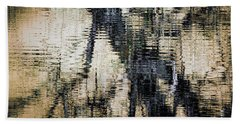 Beach Towel featuring the photograph Snow Line Reflections by Donna Lee