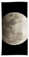 Snow Moon Beach Towel by John Black