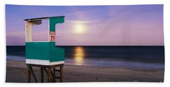 Snow Moon Rising Beach Towel