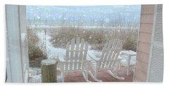 Snow On The Beach 4 Beach Towel