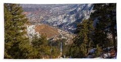 Snow On The Manitou Incline In Wintertime Beach Towel
