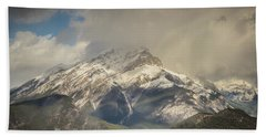 Snow On The Mountain Beach Towel